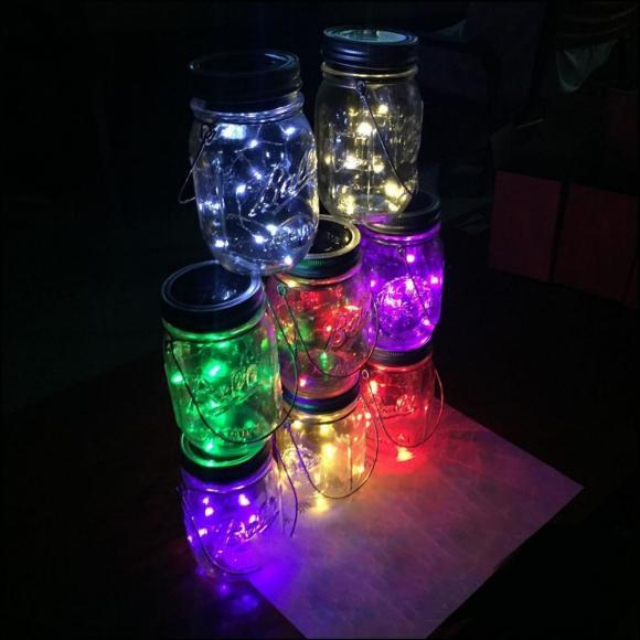 lighting in a jar. Lighting In A Jar. Led Lights Sparklelights | Sparkle Twinkle Ribbon Jar S