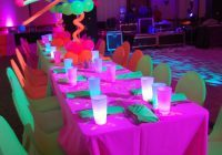 Glowing party decor | neon balloons