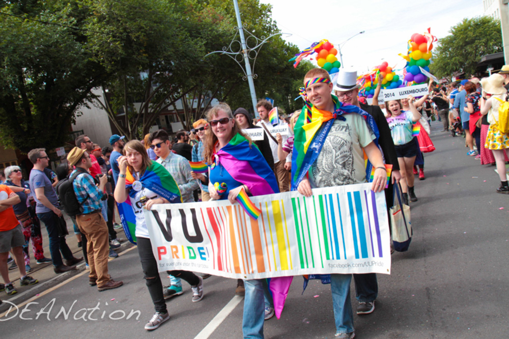 Street Parade with Mass Balloons | Gay Pride March Melbourne | Magic In The Middle