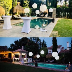 Pool Balloons with led lights