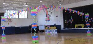 Dance Fllor Canopy | Neon balloons