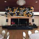 Balloon Drop | Black Gold Silver Balloons