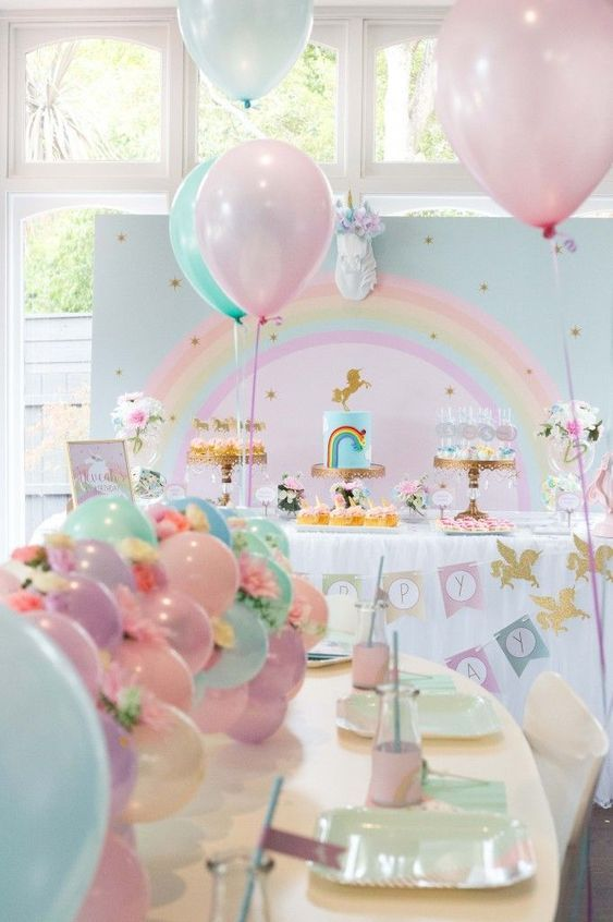 Unicorn Themed Party | Unicorn Balloons | Unicorn childrens party |