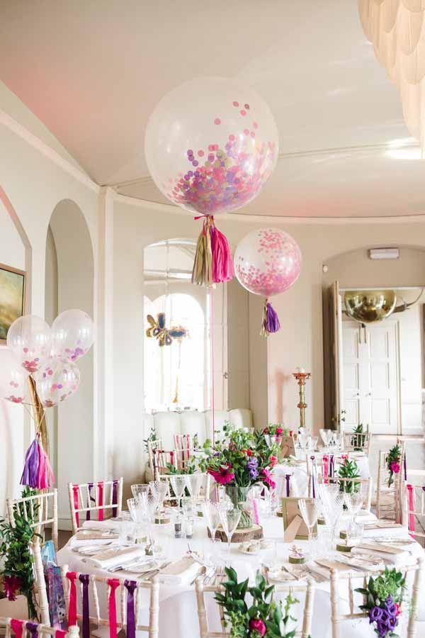wedding confetti balloons and wedding confetti