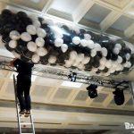 Black and White balloon cascade