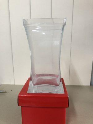 Square mouthed vase 20cm x 10.5cm